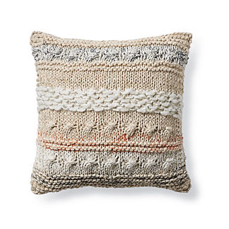 Noli Sequin Hand-knitted Decorative Pillow