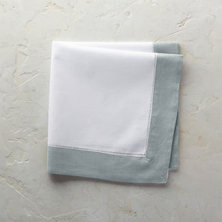 Classic Hemstitch Border Dinner Napkins, Set of Six