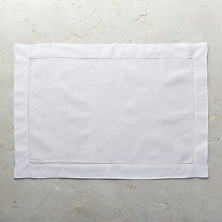 Classic Hemstitch Solid Placemats, Set of Six