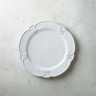 Bella Bianca Rosette Dinner Plates, Set of Four