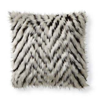 Chevron Faux Fur Pillow