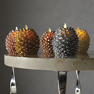 Metallic Pinecone Candles