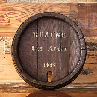 Vintage Wine Barrel Lazy Susan