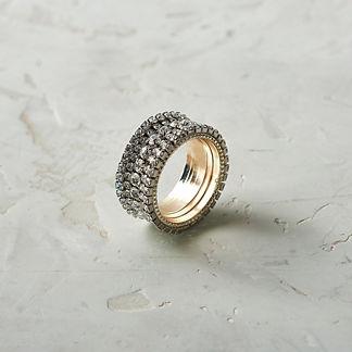 Swarovski Crystal Napkin Rings, Set of Four