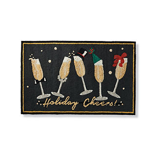Holiday Cheers Door Mat