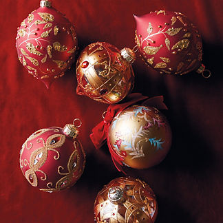 Versailles Red & Gold Accent Kit, Set of Six