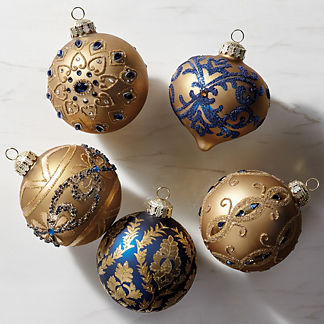 Versailles Blue & Gold Accent Kit, Set of Six