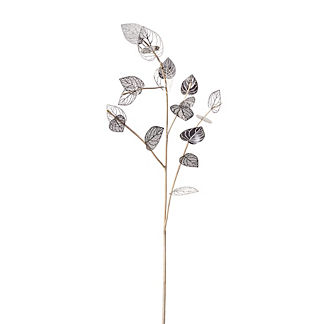 Metal Birch Leaf Stems, Set of Six