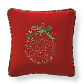 Hadley Place Velvet Ornament Scroll Pillow