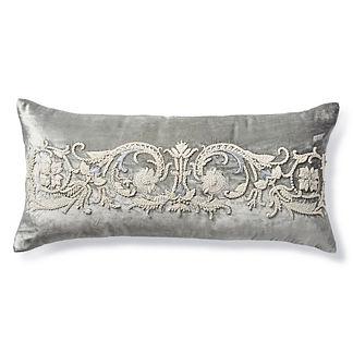 Tessara Velvet Lumbar Decorative Pillow