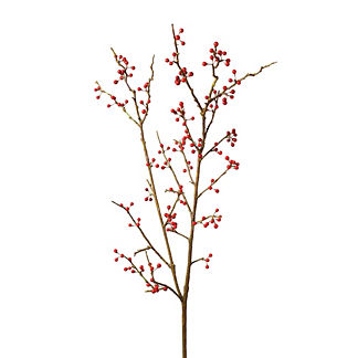 Red Berry Stems, Set of Six