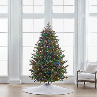 Color Changing Fresh Cut Quick Light LED 7-1/2 ft. Full Profile Tree