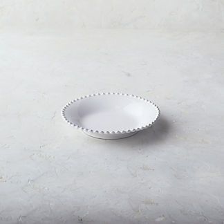Costa Nova Pearl Pasta Plates in White, Set of Six