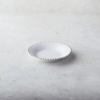 Costa Nova Pearl Pasta Plates in White, Set of Six