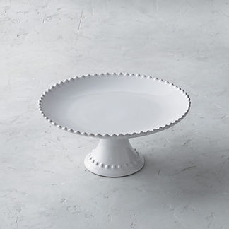 Costa Nova Pearl Cake Stand in White
