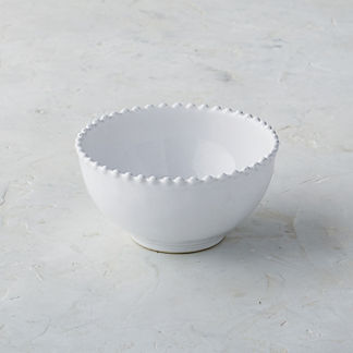 Costa Nova Pearl Cereal Bowls in White, Set of Six