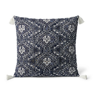 Rena Sequin Batik Tassel Decorative Pillow