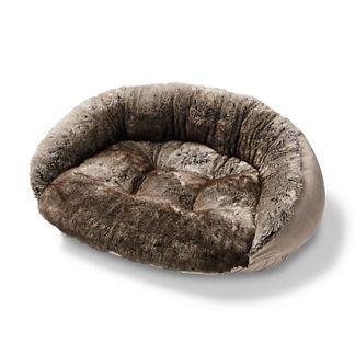 Chinchilla Faux Fur Pet Bed