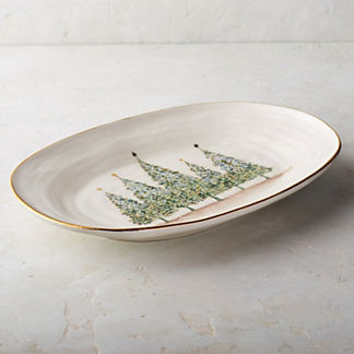 Natale Gold Large Oval Platter