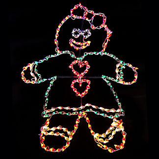 Gingerbread Girl Lighted Display