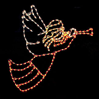 Angel with Trumpet Lighted Display