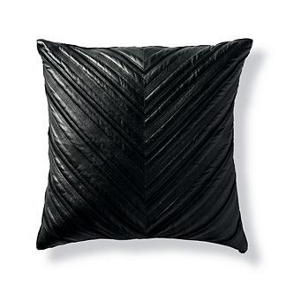 Tassi Faux Leather Chevron Decorative Pillow by Martyn Lawrence Bullard