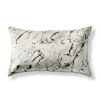 Javier Velvet Marble & Hide Lumbar Decorative Pillow by Martyn Lawrence Bullard