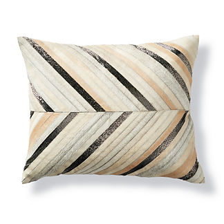 Zayne Chevron Hide Lumbar Decorative Pillow by Martyn Lawrence Bullard