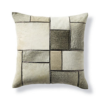 Jagger Patched Hide Decorative Pillow by Martyn Lawrence Bullard