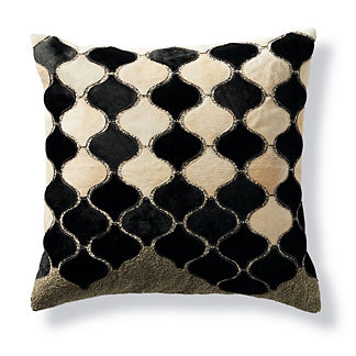 Arabesque Moroccan Tile Hide Decorative Pillow by Martyn Lawrence Bullard