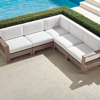 St. Kitts 5-pc. Modular Set in Weathered Teak