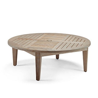 Isola Chat Table in Weathered Finish