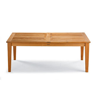 Isola Teak Expandable Dining Table in Natural Finish