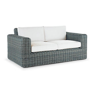 Vista Loveseat with Cushions in Sky Blue