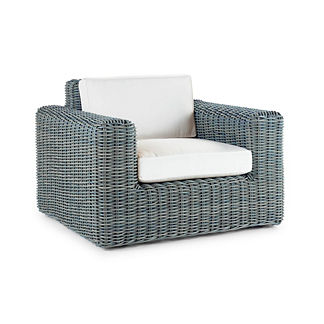 Vista Lounge Chair with Cushions in Sky Blue, Special Order
