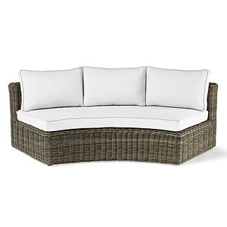 Vista Curved Sofa with Cushions