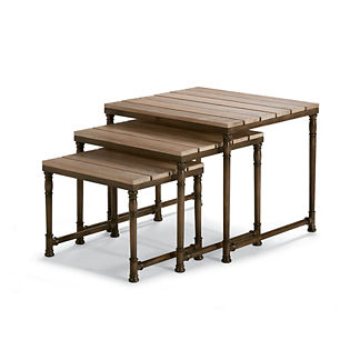 Vista Teak/Aluminum Nesting Tables