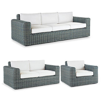 Vista 3-pc. Sofa Set in Sky Blue