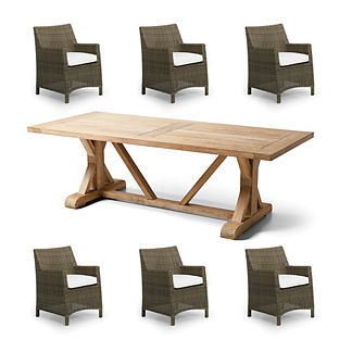 Vista 7-pc. Farmhouse Dining Set