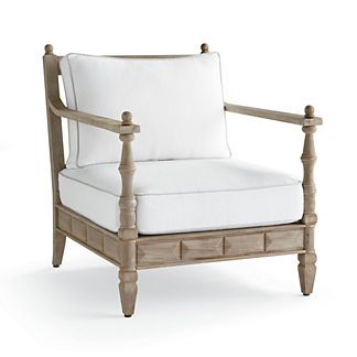 Nina Lounge Chair with Cushions in Weathered Finish by Martyn Lawrence Bullard