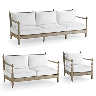 Nina 3-pc. Sofa Set in Weathered Finish by Martyn Lawrence Bullard