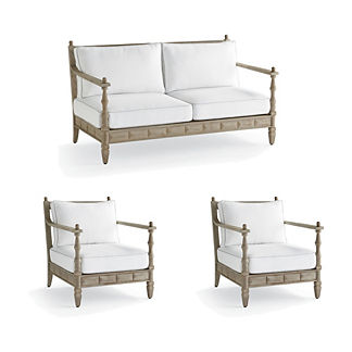 Nina 3-pc. Loveseat Set in Weathered Finish by Martyn Lawrence Bullard