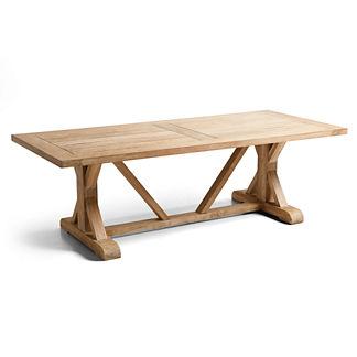 Washed Teak Farmhouse Table
