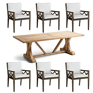 Kali 7-pc. Washed Teak Dining Set