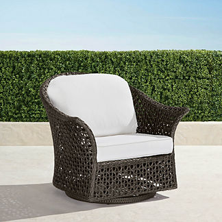 Maxwell Woven Swivel Chair in Bronze Finish, Special Order