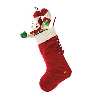 Dog Christmas Stocking with Toys