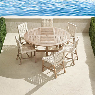Isola 7-pc. Round Dining Set in Weathered Finish