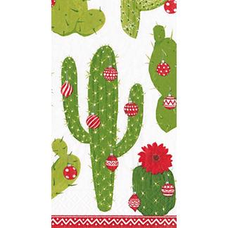 Caspari Merry Cactus Guest Towels, Set of 30