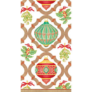 Caspari Ornament Trellis Guest Towels, Set of 30