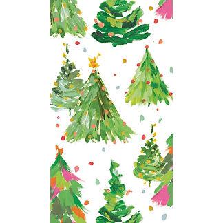 Caspari Brushstroke Trees Guest Towels, Set of 30